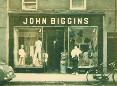 Emily Biggins Williams at John Biggins drapery shop in Ballinrobe, 1971