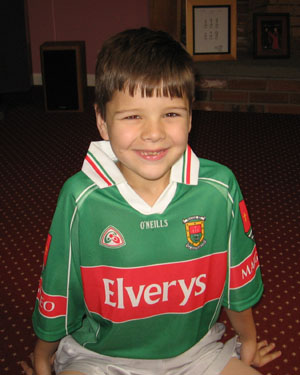 Daniel in Mayo G.A.A. football shirt