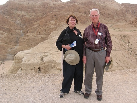 Peter and Marilyn at Qumran