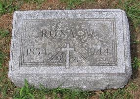 Tombstone for Rosa W. Hauser