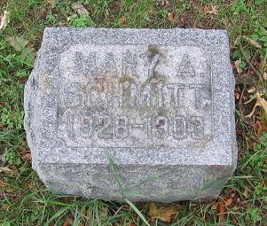 Tombstone for Mary A. Schmitt