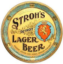 Stroh's Beer serving tray