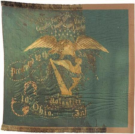 Tenth Ohio Infantry Regimental Flag
